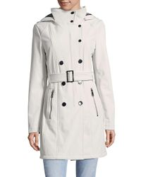 CALVIN KLEIN 205W39NYC - Gray Casual Belted Coat - Lyst
