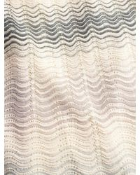 M Missoni - Natural Zig-zag Striped 3/4 Sleeve Dress - Lyst