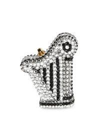 Judith Leiber - Metallic Harp-shaped Crystal Pillbox - Lyst