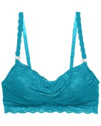 Cosabella Blue Maternity Never Say Never Mommie Lace Nursing Bralette