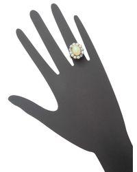 Amrapali - White 18k Gold Opal Ring - Lyst