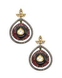 Amrapali - Multicolor Emerald, Tourmaline And Diamond Earrings - Lyst