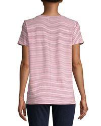 Saks Fifth Avenue - Multicolor Stripe Crewneck Tee - Lyst