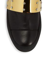 Giuseppe Zanotti - Black Shield Leather Sneakers - Lyst