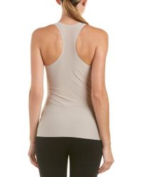 Spanx - Gray ? Perforated Racerback Tank - Lyst