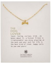 Dogeared - Metallic 14k Over Silver The Dog Lover Necklace - Lyst