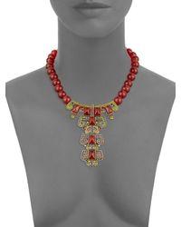 Heidi Daus - Red Carnelian Pyramid Necklace - Lyst