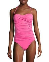 La Blanca - Pink Island Bandeau One Piece Swimsuit - Lyst