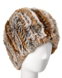 Belle Fare - Natural Knit Hat - Lyst