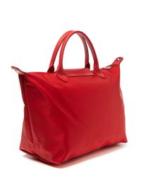 Longchamp - Red Le Pliage Neo Medium Top Handle - Lyst