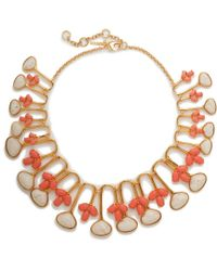 Lele Sadoughi - Multicolor Feathered Fan Necklace - Lyst
