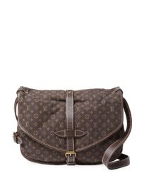 Louis Vuitton - Vintage Brown Mini Lin Saumur Pm Satchel - Lyst
