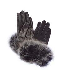 La Fiorentina - Black Leather Gloves - Lyst
