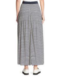 Akris Punto   Blue Striped Maxi Skirt   Lyst