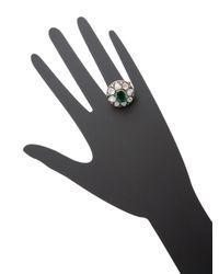 Amrapali | Metallic 14k Yellow Gold, Emerald & 2.15 Total Ct. Diamond Statement Ring | Lyst