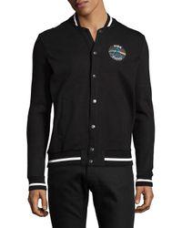 ELEVEN PARIS - Black Snap Cotton Track Jacket for Men - Lyst