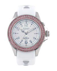 Kyboe White Radiant Wonder Watch, 40mm