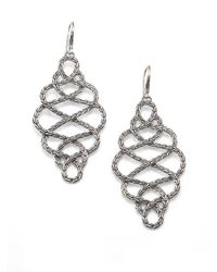 John Hardy - Metallic Classic Chain Sterling Silver Large Braided Drop Earrings - Lyst