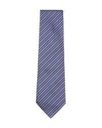Armani Blue Embroidered Stripes Tie for men