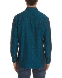 Robert Graham - Blue Classic Fit Elwood Woven Shirt for Men - Lyst