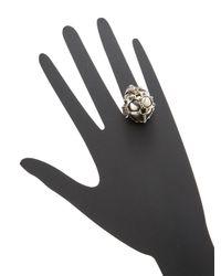 Alexander McQueen - Metallic Trapped Skull Cocktail Ring - Lyst