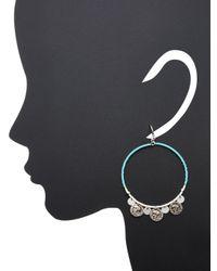 Chan Luu - Blue Coin Detail Gypsy Hoops - Lyst