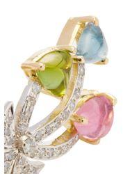 Estate Fine Jewelry | Metallic Estate 18k Gold, Tourmaline & 0.80 Total Ct. Diamond Palm Tree Earrings | Lyst