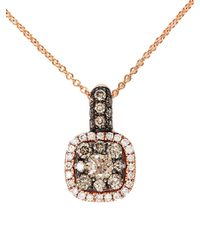 Effy - Pink Espresso 14kt. Rose Gold Brown Diamond Pendant Necklace - Lyst