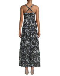 RACHEL Rachel Roy - Black Floral Bralette Maxi Dress - Lyst