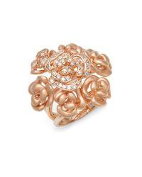 Effy   Metallic Diamond & 14k Rose Gold Ring   Lyst