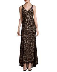 BCBGeneration | Black Knit Lace Evening Dress | Lyst
