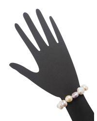 Rina Limor - Multicolor Multi-color Baroque Pearl Stretch Bracelet - Lyst