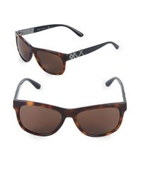 Burberry - Brown 57mm Square Sunglasses - Lyst