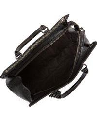 Rebecca Minkoff Black Leather Large Jamie Satchel