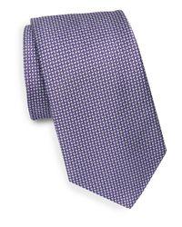 Saks Fifth Avenue - Blue Geometric Print Silk Tie for Men - Lyst