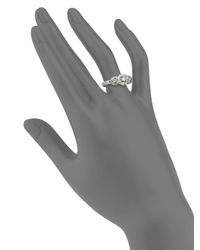 Effy | Metallic 0.88 Tcw Diamond & 14k White Gold Ring | Lyst