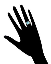 Estate Fine Jewelry - Blue Art Deco Natural Zircon Ring - Lyst