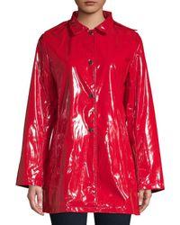 Jane Post - Red Princess Hooded Raincoat - Lyst