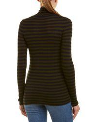 Vince - Green Turtleneck Cashmere Sweater - Lyst