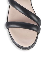 Avec Les Filles - Black Ava Leather Platform Sandals - Lyst