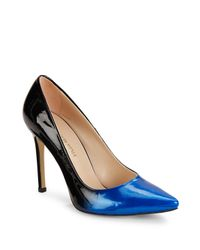 Saks Fifth Avenue   Blue Leather Point Toe Pumps   Lyst