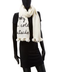 Kate Spade - Natural Baby, It's Cold Outside Scarf - Lyst