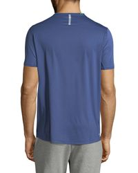New Balance - Blue Ice Print T-shirt for Men - Lyst