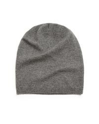 Saks Fifth Avenue - Gray Cashmere Slouchy Hat for Men - Lyst