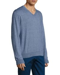 Brooks Brothers   Blue Lux Marled V-neck Sweater for Men   Lyst