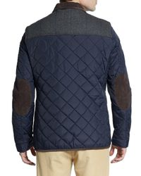Vince Camuto - Black Quilted Nylon Jacket for Men - Lyst
