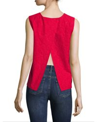 Armani Exchange - Pink Open-back Shell Top - Lyst