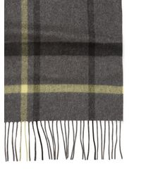 Saks Fifth Avenue - Gray Plaid Cashmere Scarf - Lyst