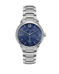 Burberry - Metallic Stainless Steel Blue Check-print Bracelet Watch- Bu10007 for Men - Lyst