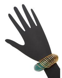 Alexis Bittar   Metallic Coiled Lucite Cuff Bracelet   Lyst